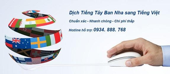 Dich tieng Tay Ban Nha sang tieng Viet chuan